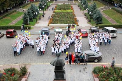 У Чернівцях відбувся флешмоб до Дня миру