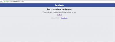У користувачів у всьому світі перестав працювати Facebook