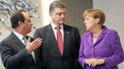 Порошенко, Меркель та Олланд скоординували позиції напередодні зустрічі у Парижі