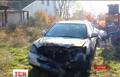 З'явилося відео зі згорілим автомобілем депутата Чернівецької міськради