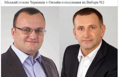 У мережі триває паралельне онлайн-голосування за кандидатів на пост мера Чернівців