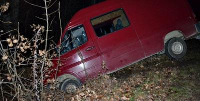 На Буковині мікроавтобус з пиломатеріалами злетів у канаву (ФОТО)