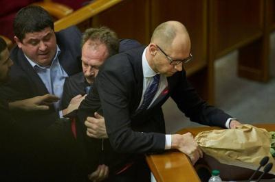 Нардеп-буковинець відтягував Барну від Яценюка: з'явилося детальне відео конфлікту в Раді