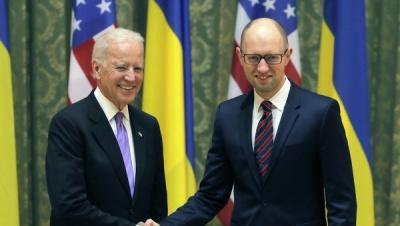 Байден високо оцінив зусилля Яценюка щодо реформ, - посольство США