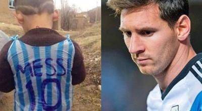 """Мессі шукає бідну дитину, чиє фото у пластиковій """"футболці"""" зворушило світ"""