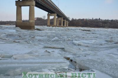 На Дністрі через відлигу розпочався льодохід