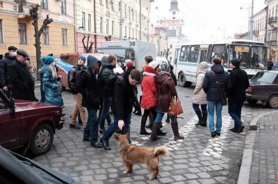Поліція не вважає, що студенти Прядка у Чернівцях перекривали дорогу