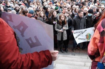 Студенти БДФЕУ мітингують під міськрадою. Прядко просить допомоги в депутатів