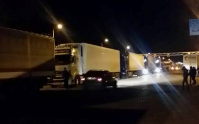 На Буковині активісти блокують в'їзд російських фур