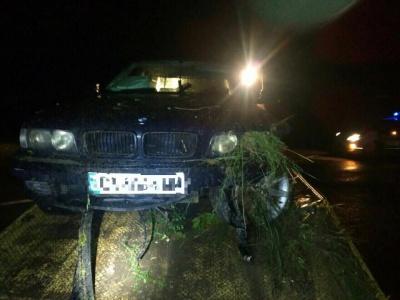 У Чернівцях п'яний водій без прав утікав від поліції та влетів у кювет