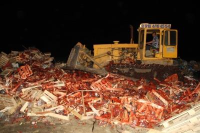 На Кубані розчавили 38 тонн української полуниці