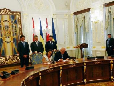 Україна та Канада підписали договір про створення ЗВТ