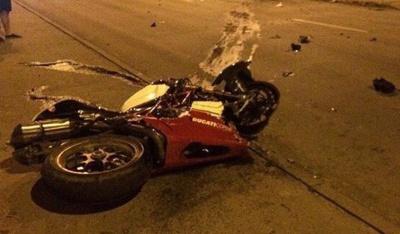 Мотоцикл, водій якого втікав від поліції у Чернівцях, перебував у міжнародному розшуку