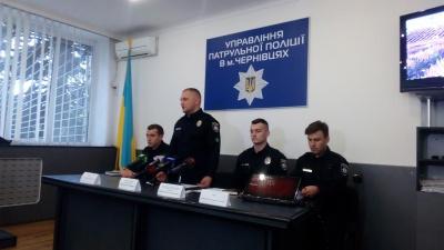 У Чернівцях чотирьох полісменів відсторонили від роботи на час розслідування ДТП з мотоциклістом