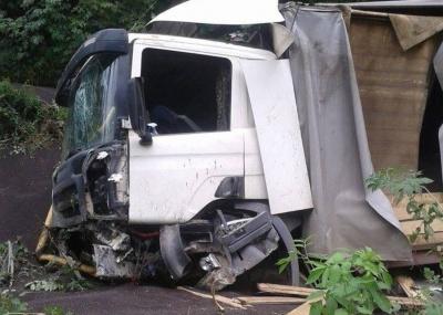 На Буковині легковик підрізав вантажівку з ріпаком - та злетіла у кювет (ФОТО)