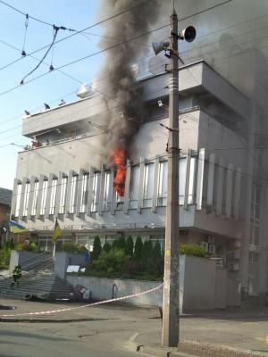 """Слідство розглядає дві версії пожежі на каналі """"Інтер"""""""