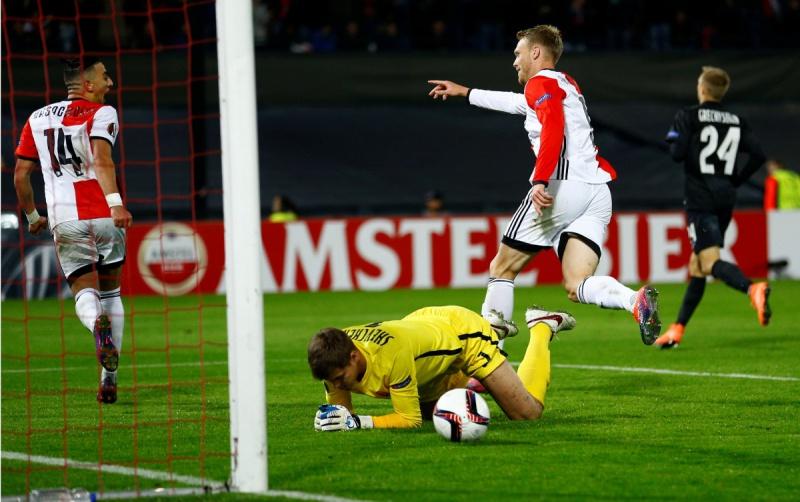 «Зоря» мінімально програла «Феєнорду» уматчі Ліги Європи