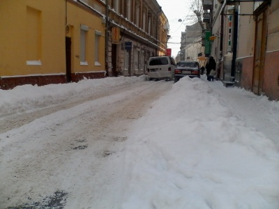 Обшанський предупреждает: за неубранный снег штраф