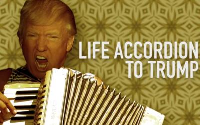 Что общего между Трампом и аккордеоном. Ответил блогер из Австралии - видео