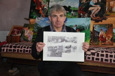Буковинец рисует шариковой ручкой картины, которые представили на выставке в Киеве (ФОТО)