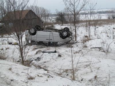 Авто догори дригом: на Буковині у ДТП перекинулись дві машини (ФОТО)