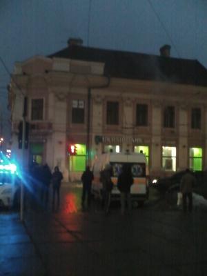В Черновцах горела квартира на Центральной площади (ФОТО)