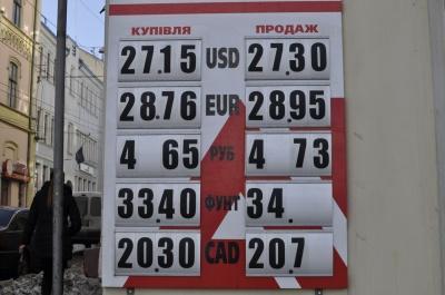 У Чернівцях сьогодні євро подорожчав на 5 копійок (ФОТО)