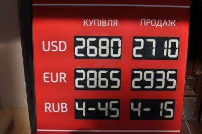 Євро сьогодні у Чернівцях коштує від 28,95 до 29,35 гривень (ФОТО)