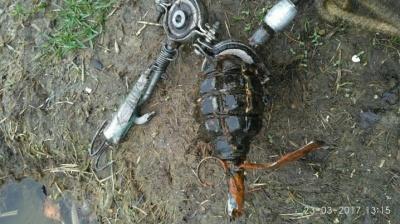 На озерах в Черновцах мужчина выловил гранату