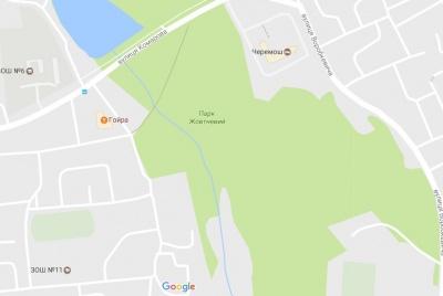 Google Maps повернув стару назву найбільшому парку Чернівців
