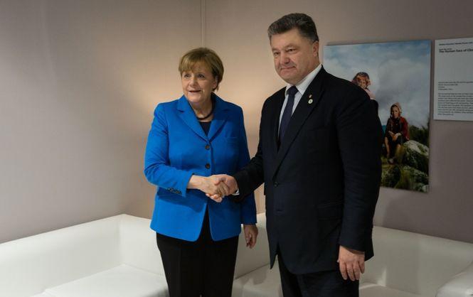 Порошенко прибув доБерліна для зустрічі зМеркель