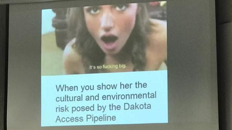 Упс... Студент використав для презентації кадр з порнофільму