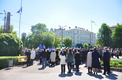 У Чернівцях підняли прапор ЄС – відзначають День Європи (ФОТО)