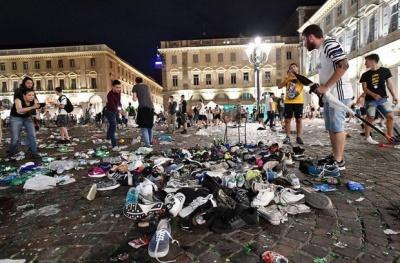 В Турине более тысячи человек пострадали в результате давки после финала Лиги Чемпионов