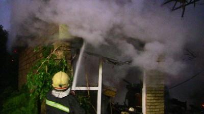Спасатели обнародовали видео по тушению пожара в ресторане в Черновцах