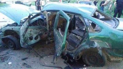 На Донеччині вибухнуло авто зі співробітниками СБУ, один загиблий