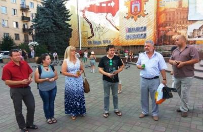 В Черновцах журналисты почтили память Павла Шеремета (ФОТО)