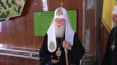 Патріарх Філарет розповів, що хоче помолитися з буковинцями за мир