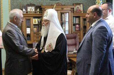 Патриарх Филарет наградил Фищука орденом Святого Николая Чудотворца