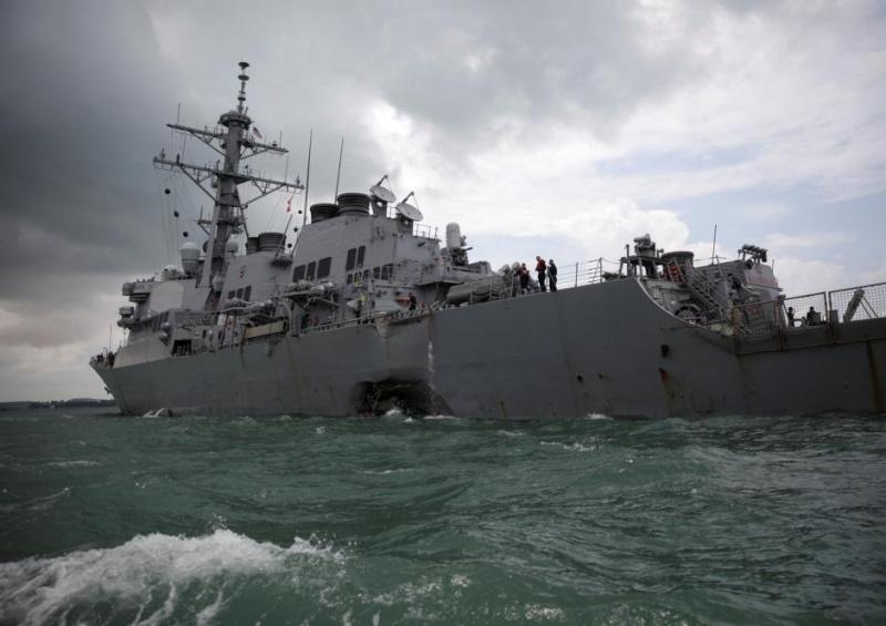 Наамериканському есмінці водолази виявили тіла загиблих моряків
