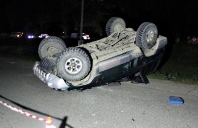 В Черновицкой области перевернулся внедорожник на еврономерах - 25-летний водитель погиб на месте (ФОТО)