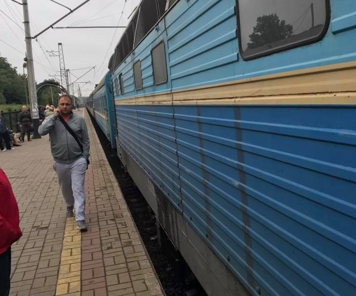 Під Києвом загорівся потяг з Чернівців