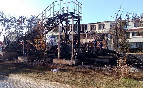 При пожежі вдитячому таборі вОдесі зникли три дівчинки