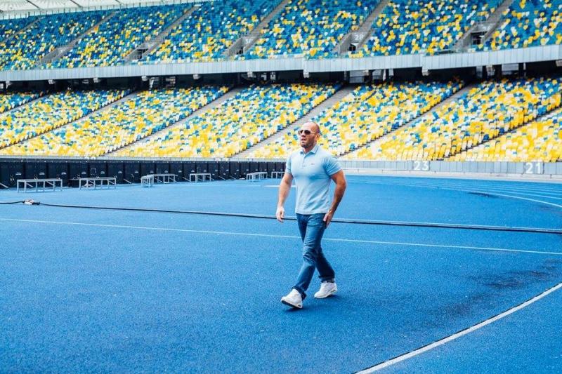 Голлівудський актор Джейсон Стетхем знявся врекламі наНСК «Олімпійський» уКиєві