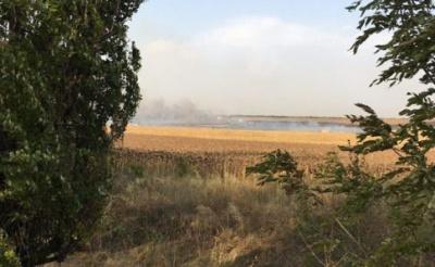 На Донеччині загорівся військовий склад