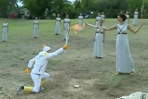 УГреції запалили вогонь зимових Олімпійських ігор