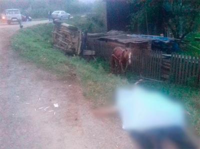 На Буковині «Жигулі» врізались у підводу та збили на смерть чоловіка