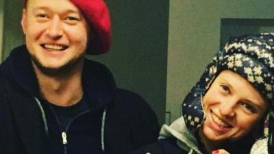 """Лидер  """"Бумбокса"""" Хлывнюк впервые появился на публике со своей женой фото"""