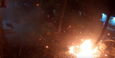 У мережу виклали відео вибуху у Києві, в результаті якого загинули двоє людей