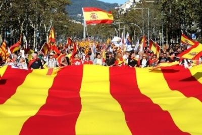 У столиці Каталонії триває демонстрація на підтримку єдності Іспанії